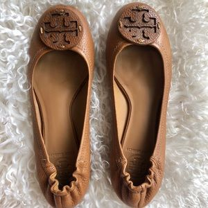 Tory Burch Minnie Leather Travel Ballet Flat